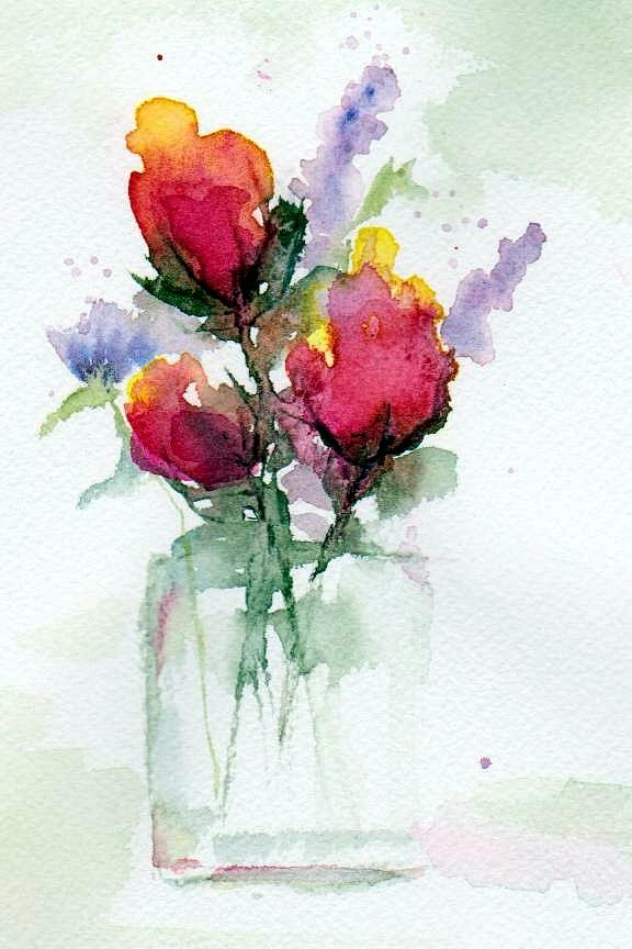 Floral Painting - In A Vase by Anne Duke
