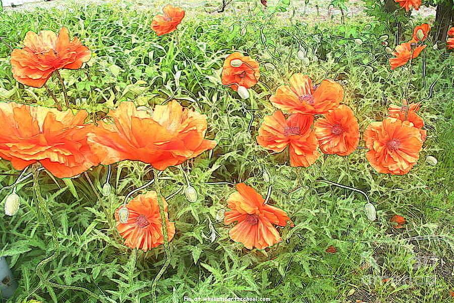Flanders Fields Art Painting - In Flanders Fields The Poppies Grow by PainterArtist FIN