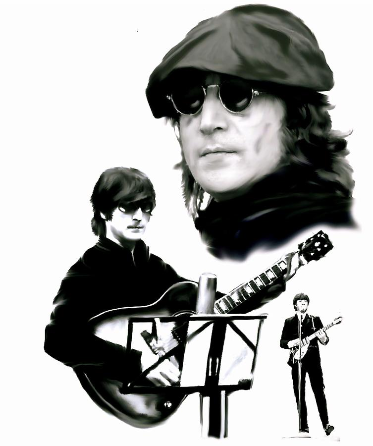 John Lennon Painting - In My Life  John Lennon by Iconic Images Art Gallery David Pucciarelli