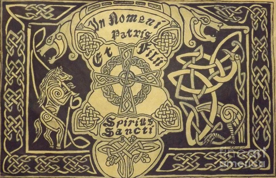 Tags:  Drawing - In Nomni Petris by Brett Genda