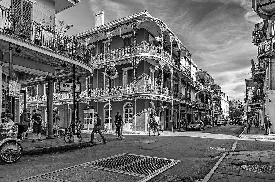 In The French Quarter Monochrome Photograph  - In The French Quarter Monochrome Fine Art Print