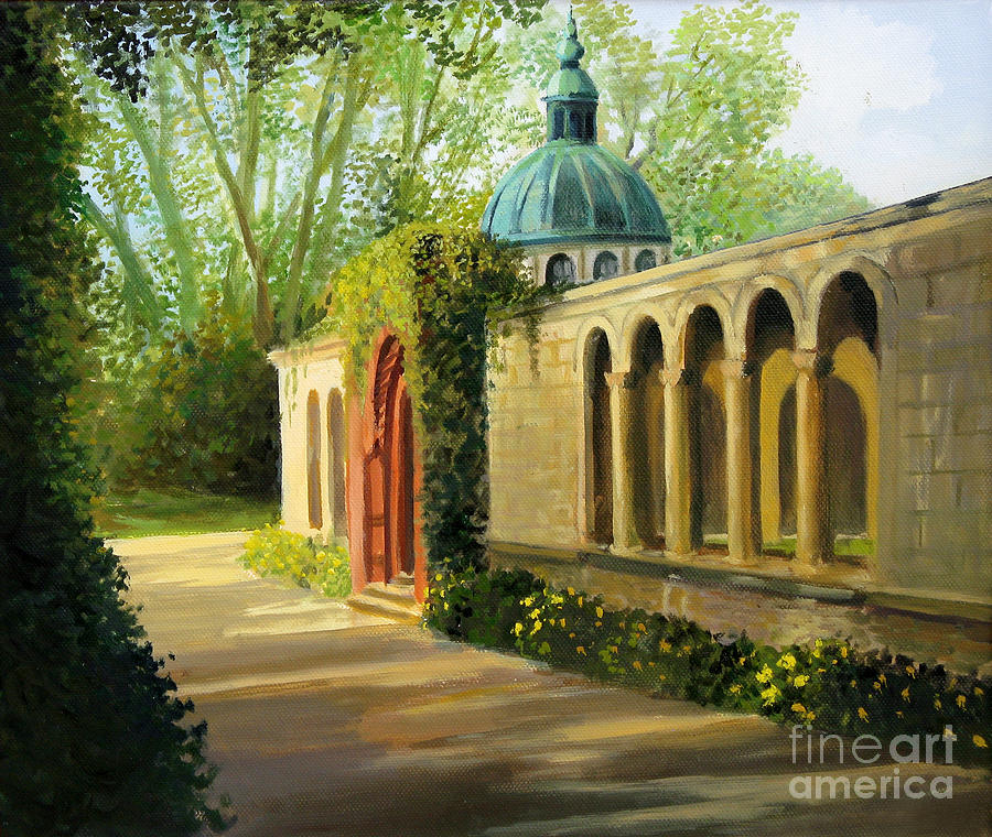 In The Gardens Of Sanssouci Painting  - In The Gardens Of Sanssouci Fine Art Print