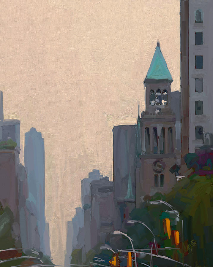 New York Painting - In The New York City Mountains by Nop Briex