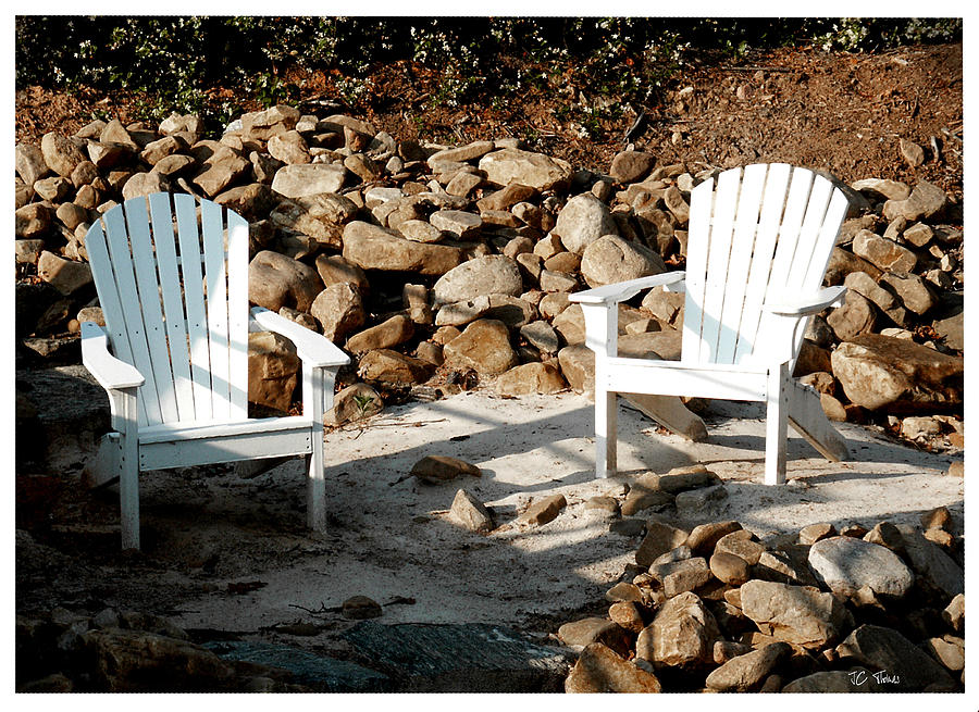 Adirondack Chair Photograph - In Waiting by James C Thomas