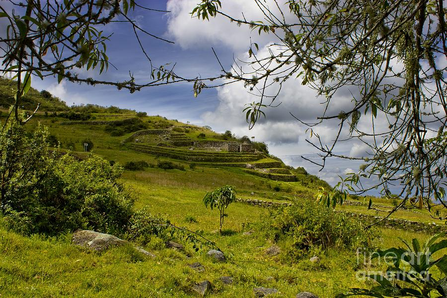 Mount Photograph - Inca Ruins On Mount Cojitambo In Ecuador by Al Bourassa