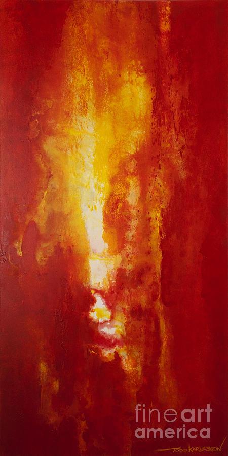 Fire Painting - Incendie by Todd Karleskein