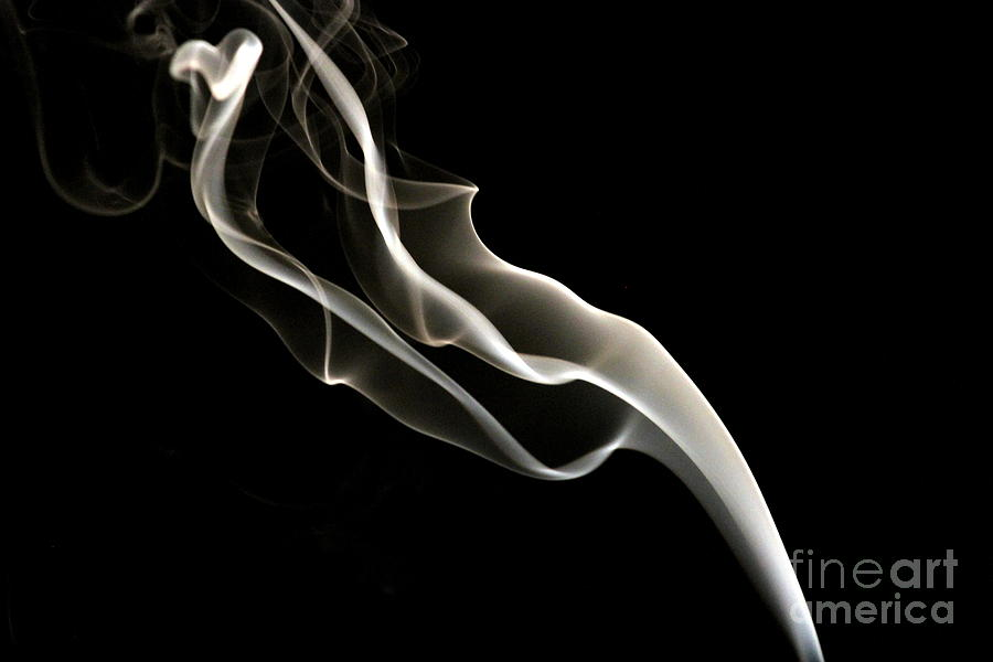Incense Smoke Photograph  - Incense Smoke Fine Art Print