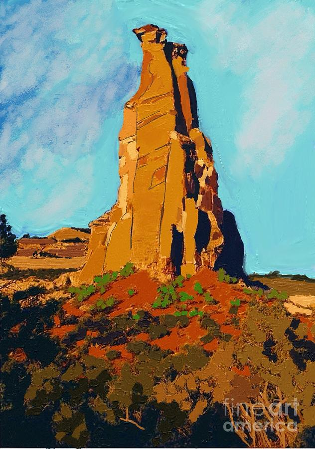Independence Rock Painting - Independence Rock by Craig Nelson