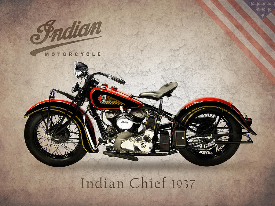 Indian Chief 1937 Photograph