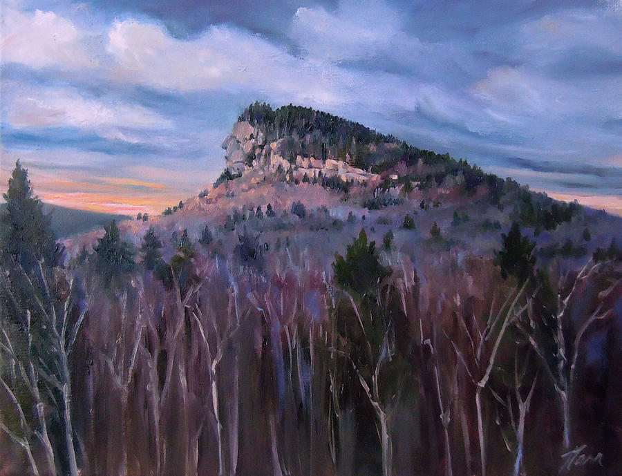 Indian Head In Lincoln New Hampshire Painting By Nancy