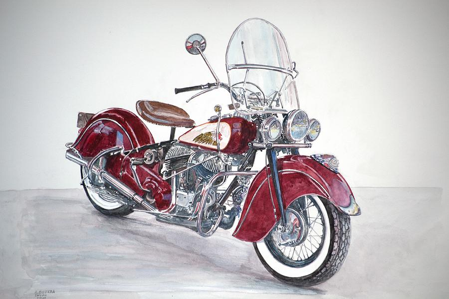 Indian Motorcycle Painting - Indian Motorcycle by Anthony Butera