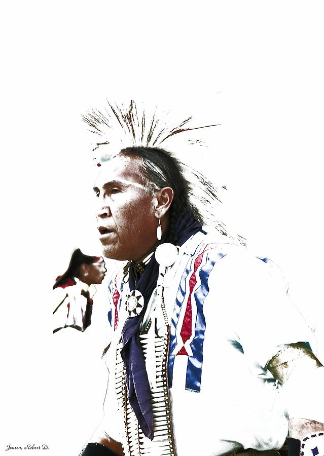 Native American Digital Art - Indian Warrior by Robert Jensen