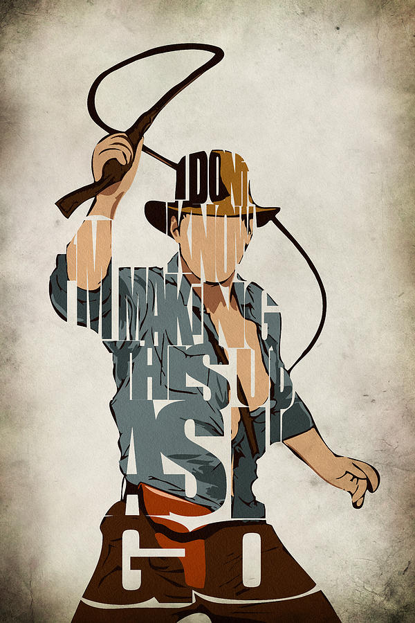 Indiana Jones - Harrison Ford Painting