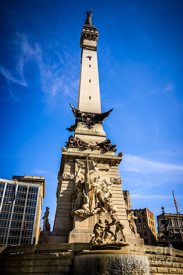 America Photograph - Indianapolis Indiana Soldiers And Sailors Monument Picture by Paul Velgos