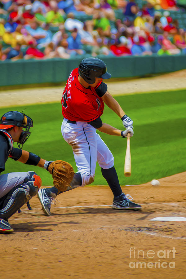 Indianapolis Indians Jared Goedert Digital Oil Painting Photograph