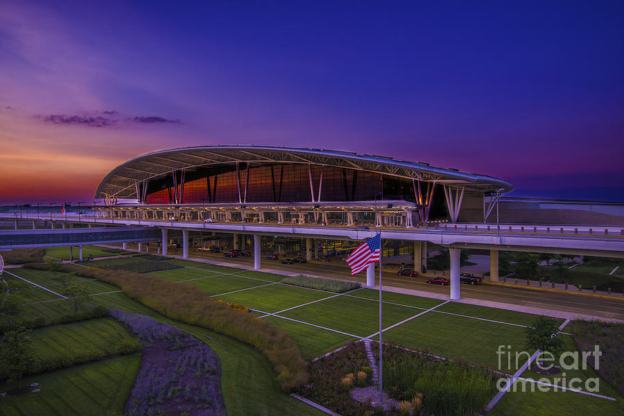 Indianapolis International Airport Sunset Alpha by David Haskett