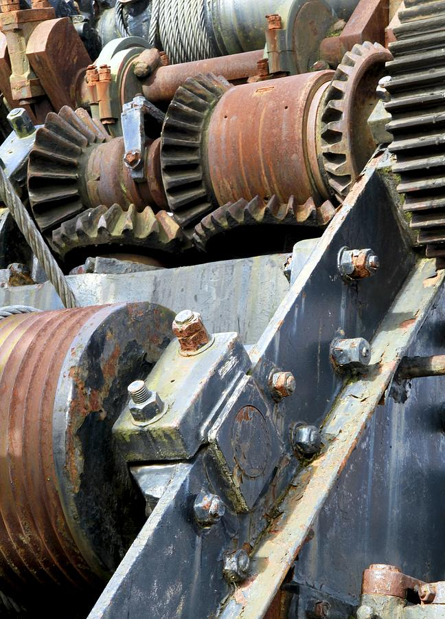 Industrial Cogs And Pulley Wheels Photograph