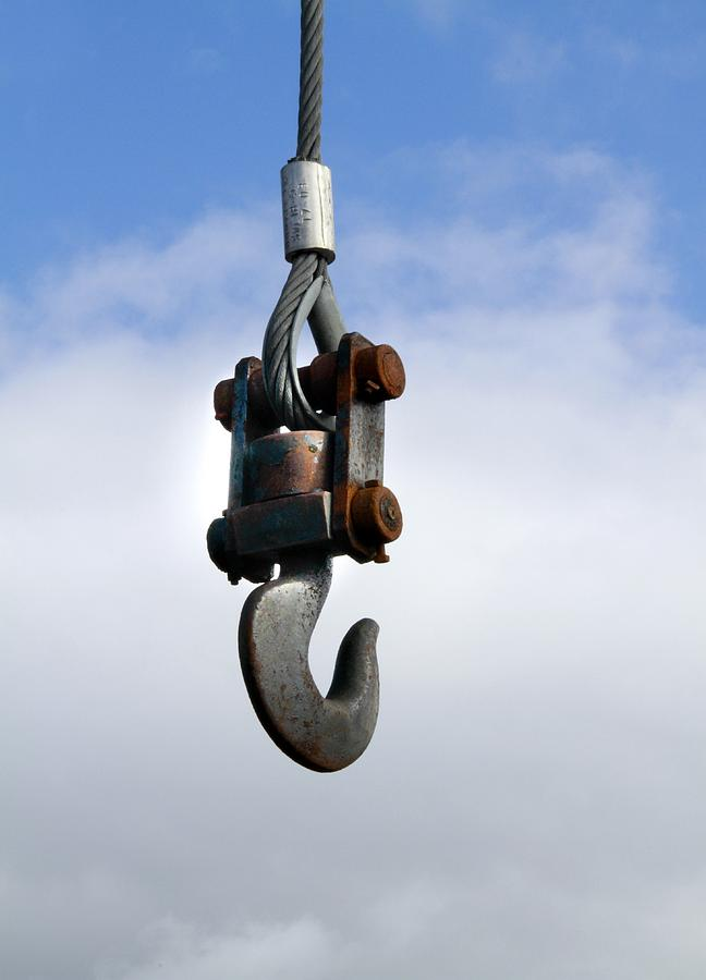 Equipment Photograph - Industrial Lifting Hook by Science Photo Library
