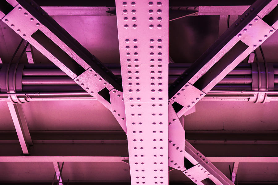 Industrial Metal Purple Photograph