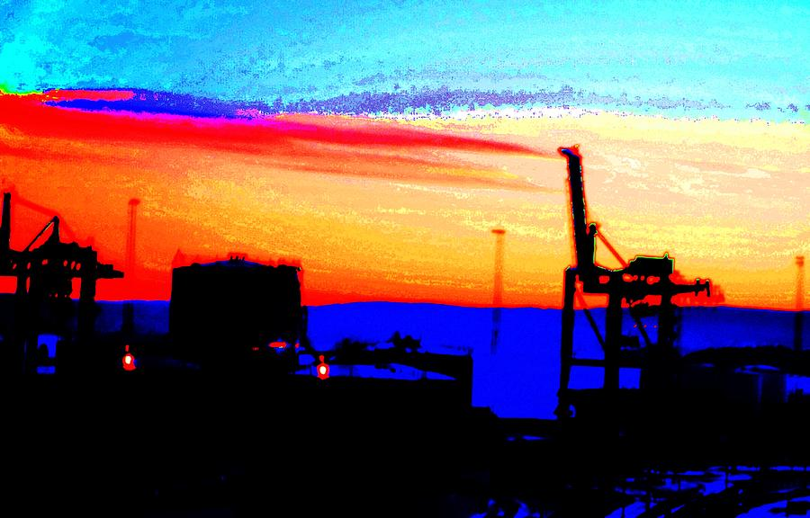 Industrial Sunset Photograph
