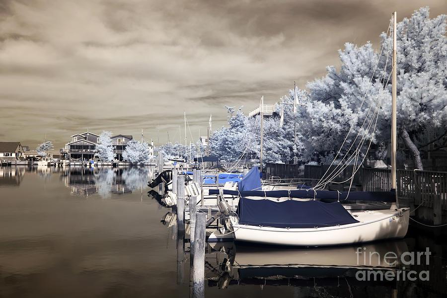 Infrared Boats At Lbi Photograph
