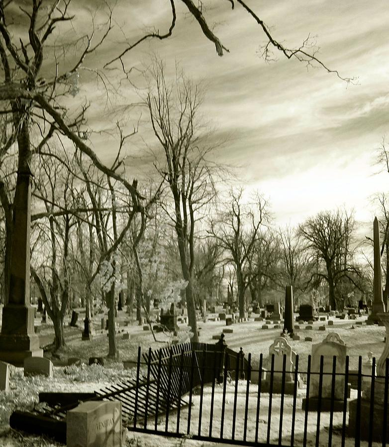 Infrared Cemetery Photograph