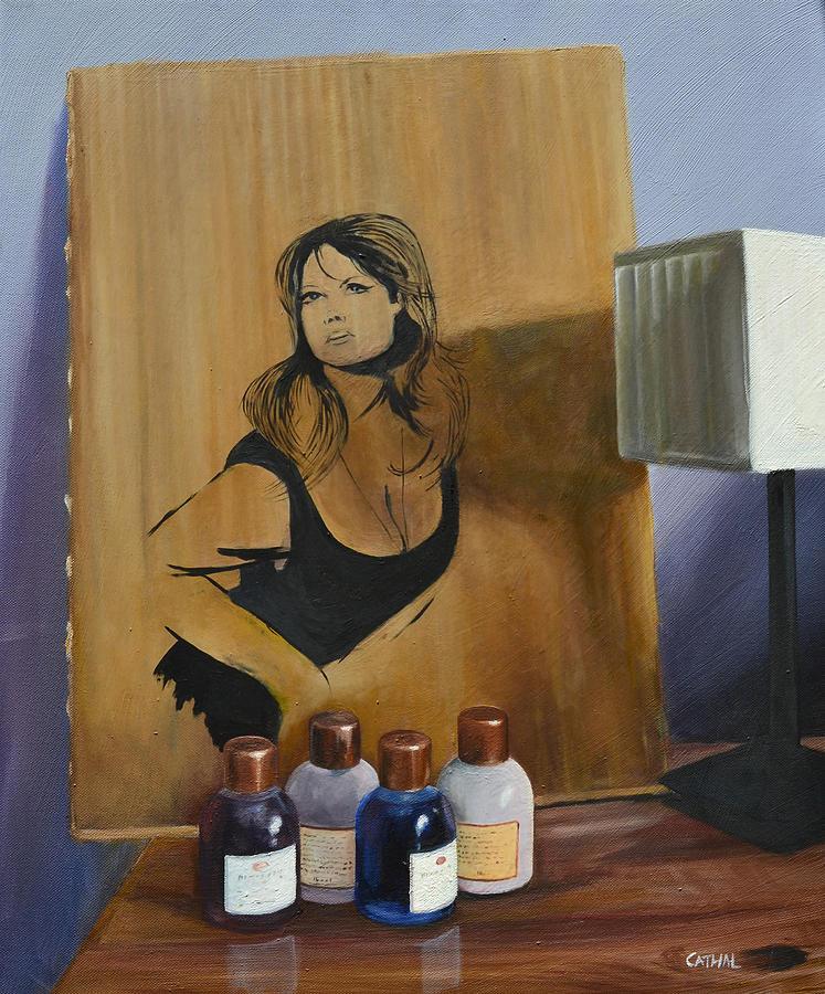 Ingrid On Cardboard Painting