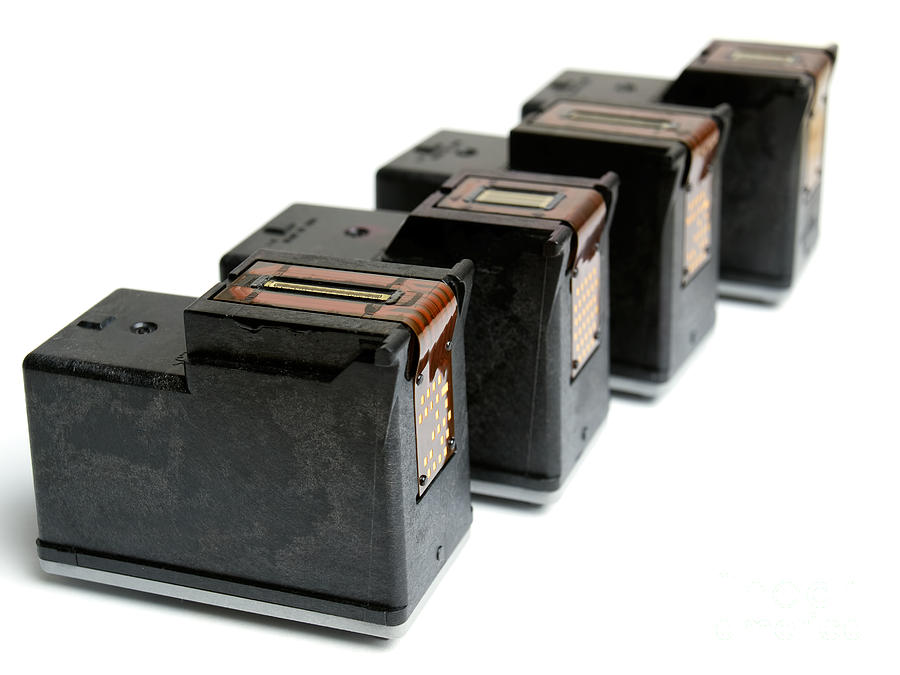 Accessory Photograph - Ink Cartridges by Sinisa Botas