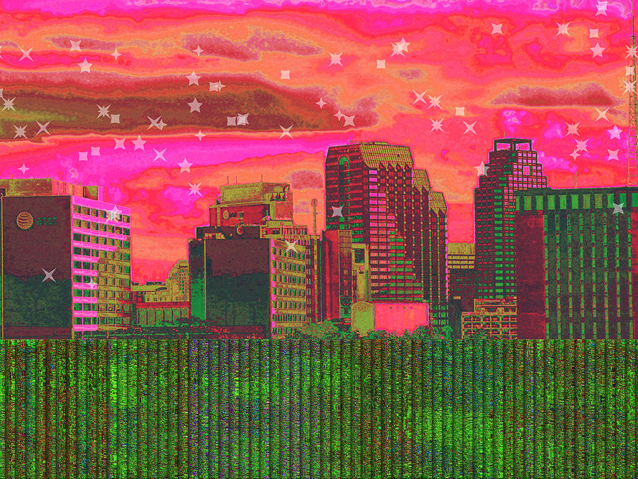 Inner City - Night Falls Digital Art