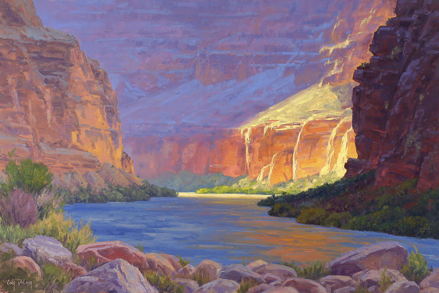 Inner Glow Of The Canyon Painting
