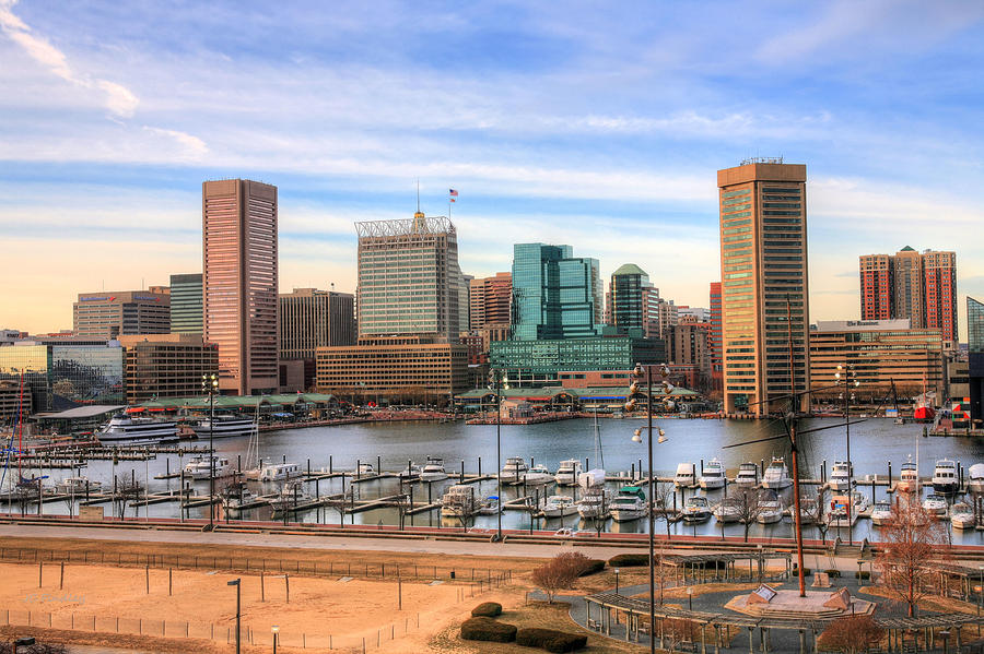 Baltimore Photograph - Inner Harbor by JC Findley