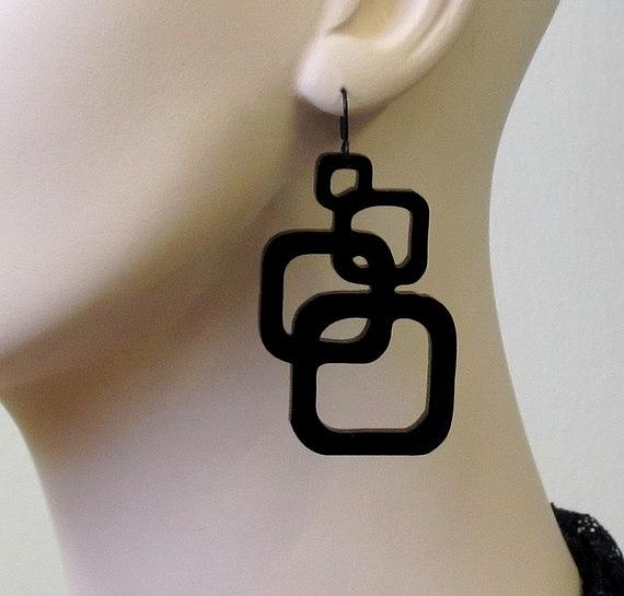 Inseparable Squares Earrings Jewelry