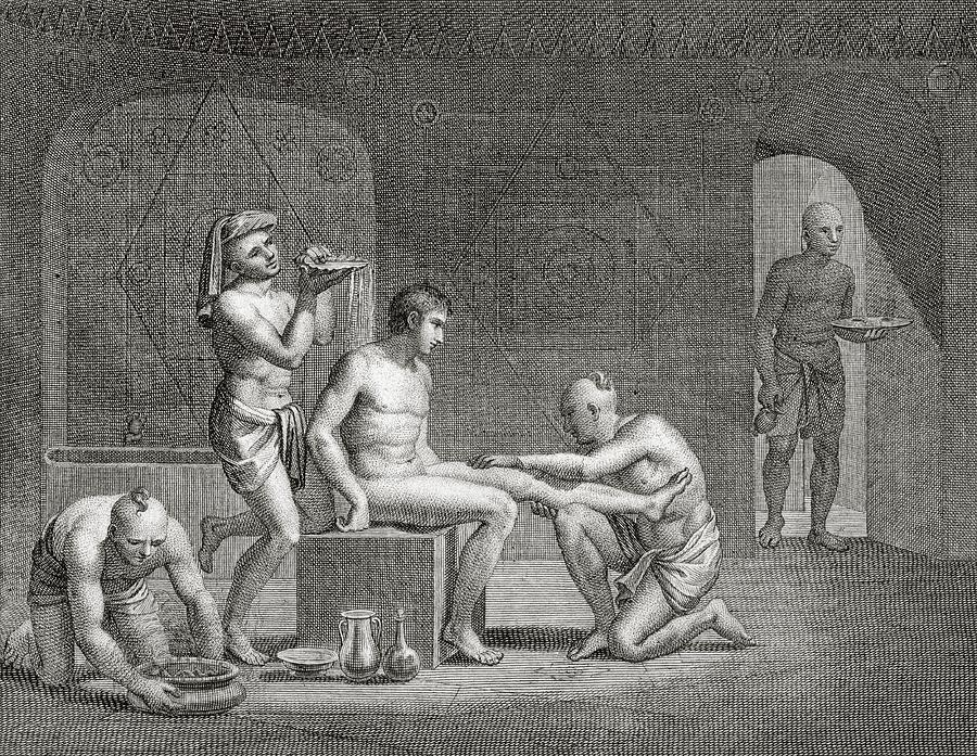 Egypt Drawing - Inside An Egyptian Bathhouse, C.1820s by Dominique Vivant Denon