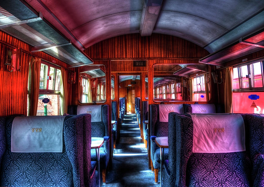 Inside An Old Train Photograph