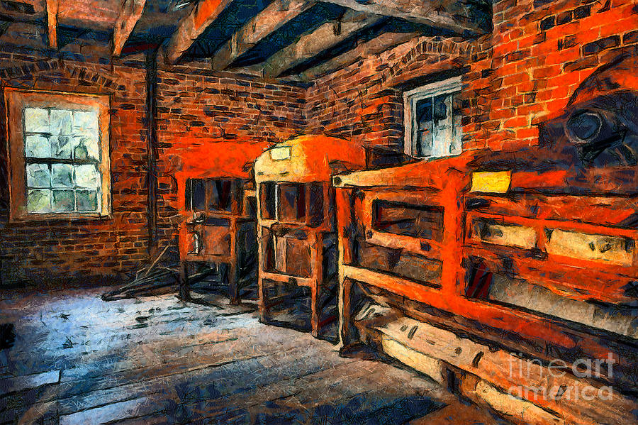 North Carolina Painting - Inside Kerr Mill II - North Carolina by Dan Carmichael