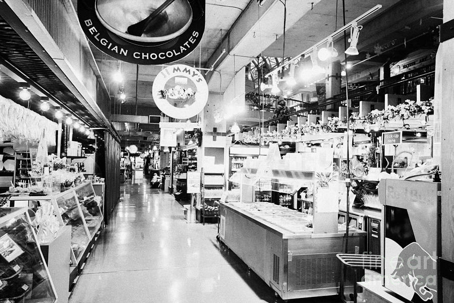 inside lonsdale quay market shopping mall north Vancouver BC Canada Photograph