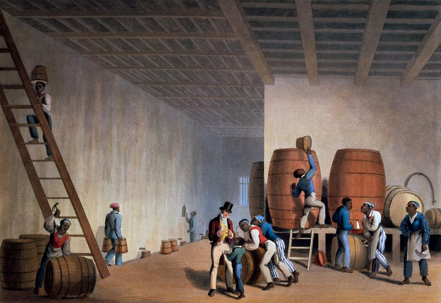 Inside The Distillery, From Ten Views Drawing