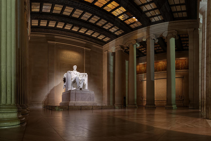 Inside The Lincoln Memorial Photograph  - Inside The Lincoln Memorial Fine Art Print