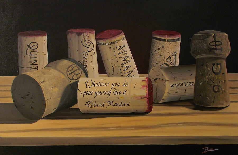 Wine Art Painting - Inspirational by Brien Cole