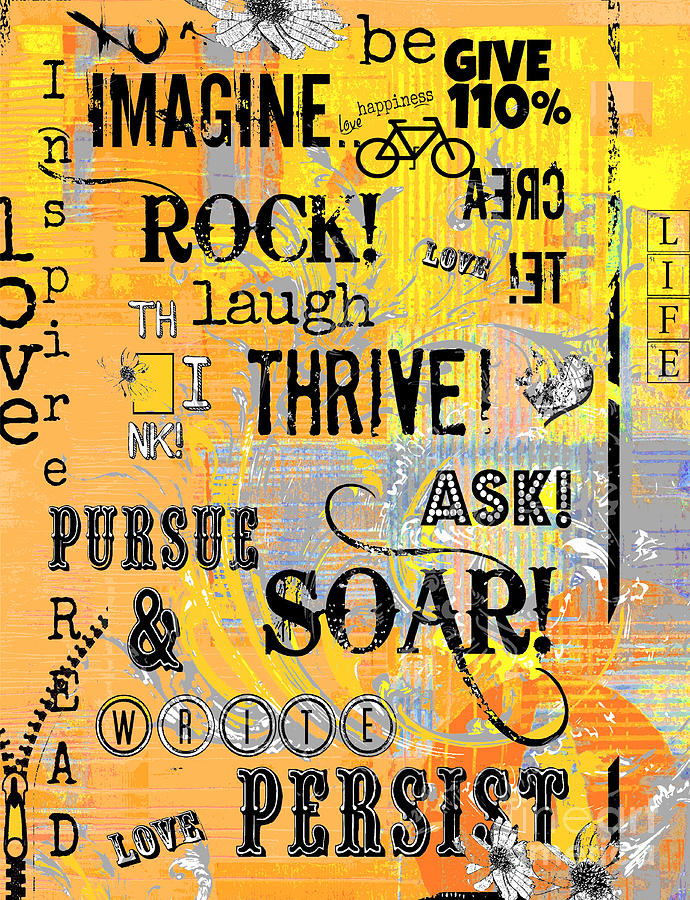 Inspirational Motivational Typography Pop Art Digital Art
