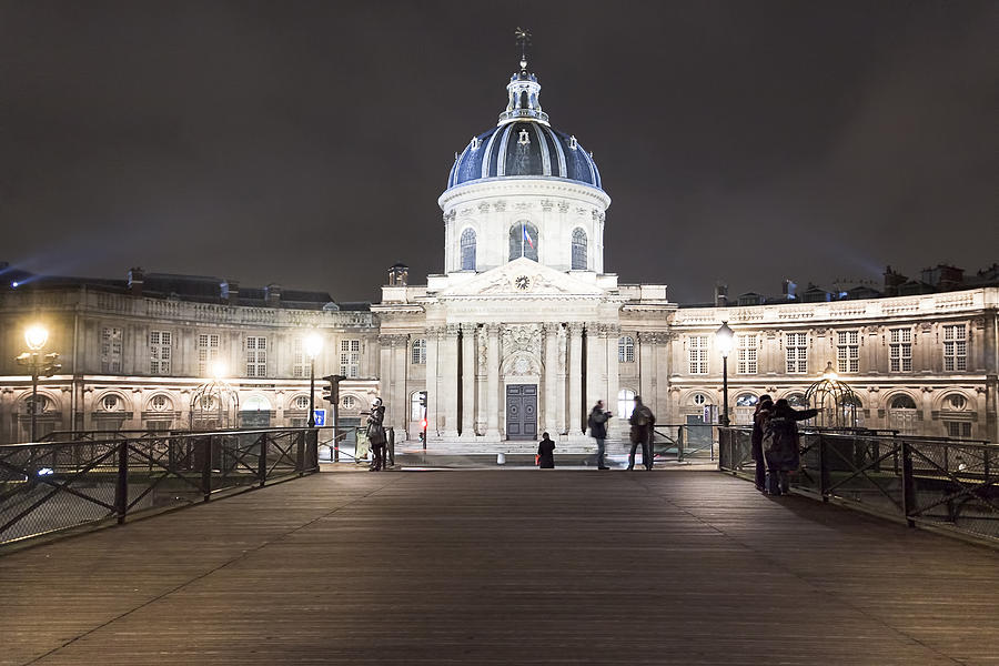 Institut De France - Parisian Night Scene Photograph  - Institut De France - Parisian Night Scene Fine Art Print
