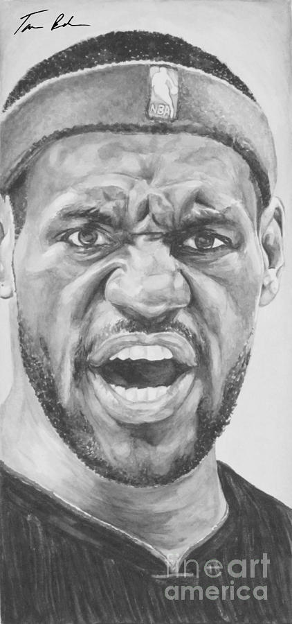 Intensity Lebron James Painting  - Intensity Lebron James Fine Art Print