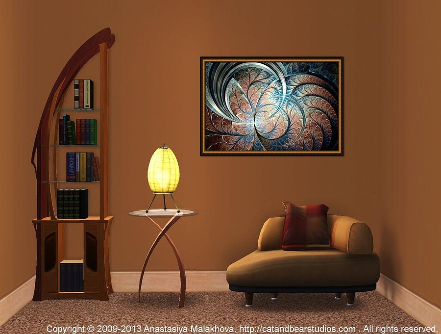 Interior Design Idea - Metal Forest Digital Art
