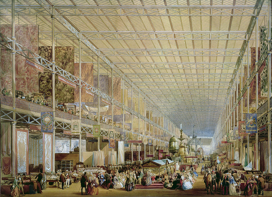 Interior Of The Great Exhibition Of All Drawing
