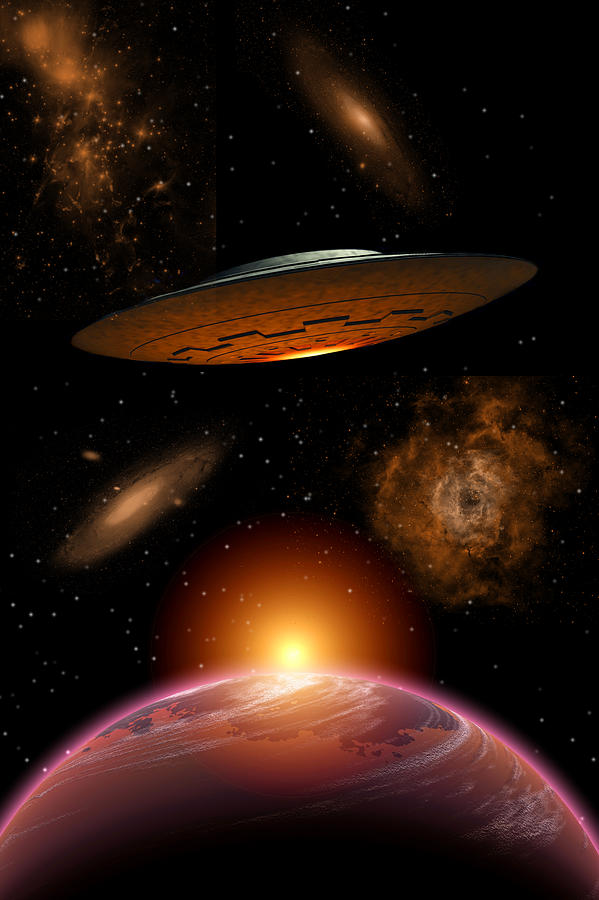 Interstellar space travel 1 digital art by mark stevenson for Outer space travel