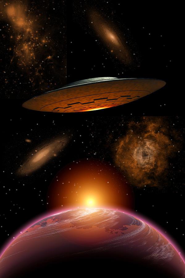 Interstellar space travel 1 digital art by mark stevenson for Outer space travel