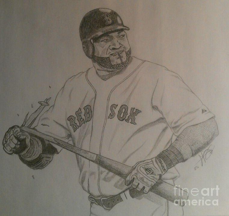 Intimidating David Ortiz Drawing