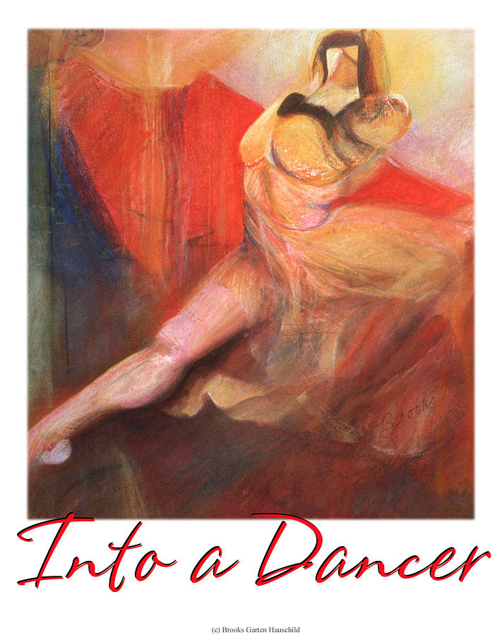 Into A Dancer Pastel  - Into A Dancer Fine Art Print