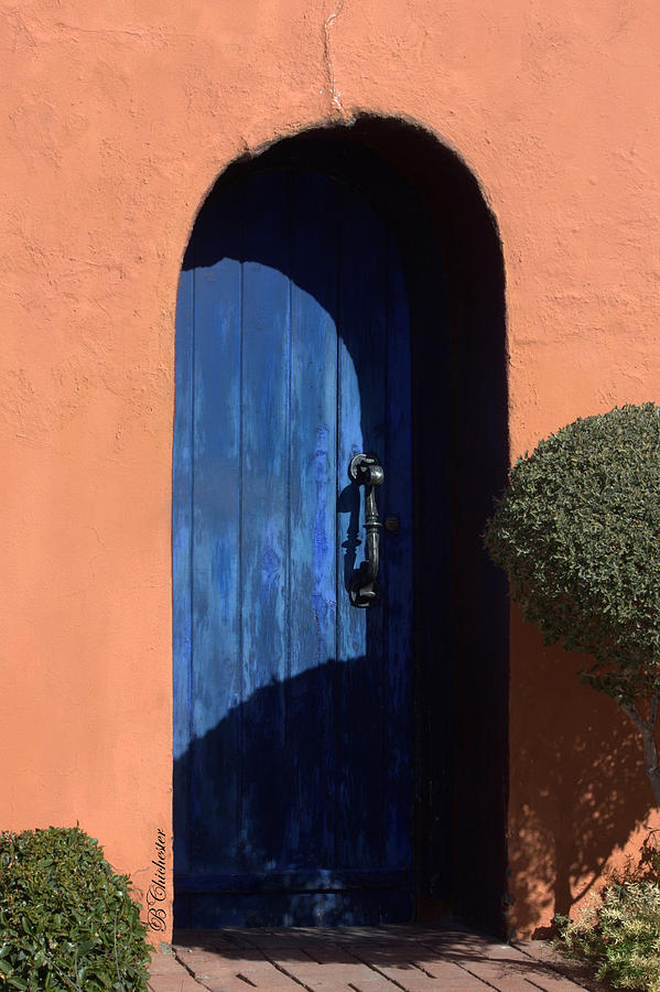 Into The Shadows Of The Blue Door Photograph
