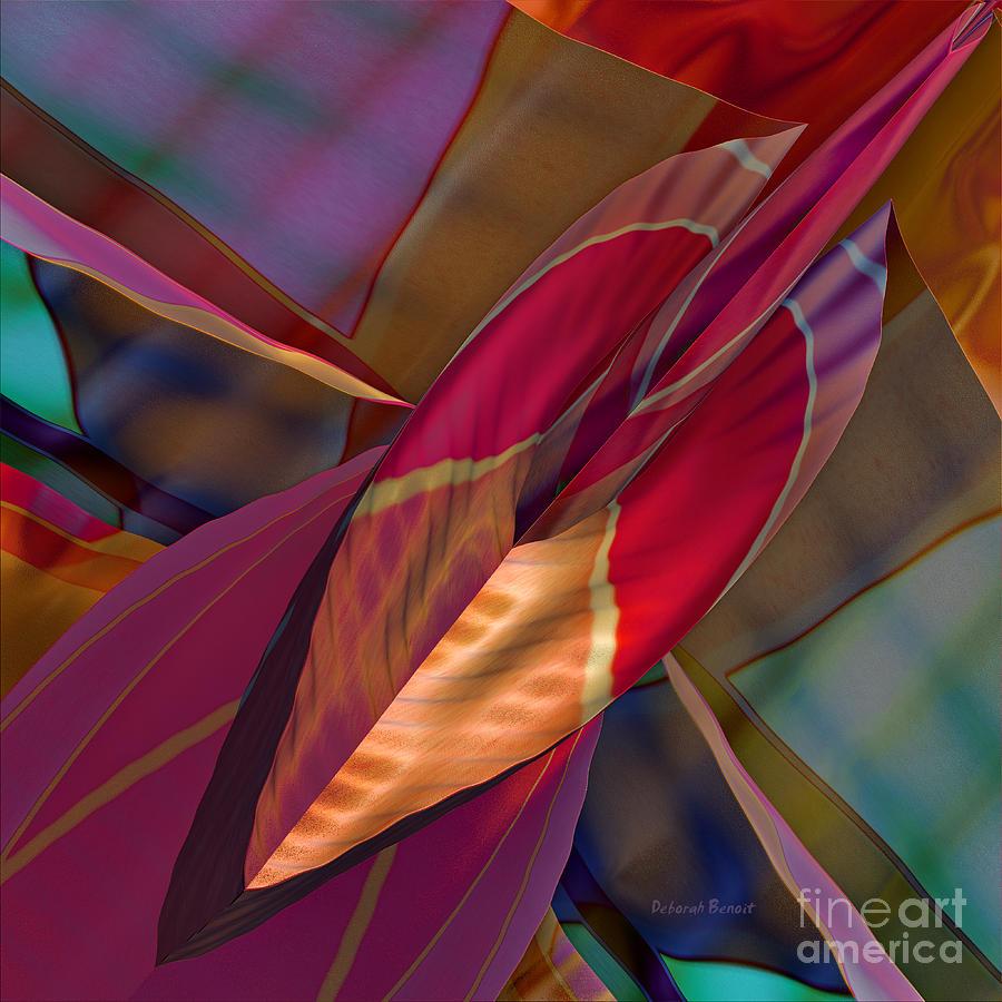 Abstract Digital Art - Into The Soul by Deborah Benoit